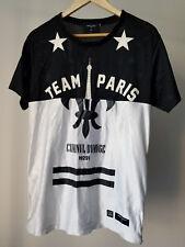 Criminal Damage Team Paris 47 Mens T Shirt Jersey Short Sleeve Top Black White M
