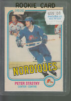 1981-82 OPC O-PEE-CHEE #269 PETER STASTNY RC ROOKIE CARD NORDIQUES BK$20.00 A