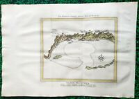 XVIII ème - île Maurice - Rare Plan par Prévost / Bellin & Schley 38x27 cm 1746