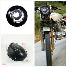 1 Pcs Metal Round White Angel Eyes Motorcycle LED Headlight For Cruiser Chopper