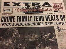 BlizzCon Gadgetzan Gazette Newspaper Poster Print - Blizzard Hearthstone