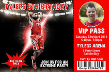 Personalised Basketball Photo Invitations Ball Sports Invites *Free Gift*