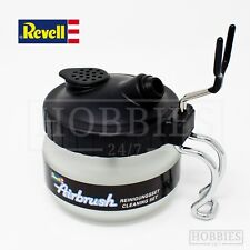 Revell Airbrush Cleaning Set Glass Pot Stand Holder 3 Filters Cleaner Station
