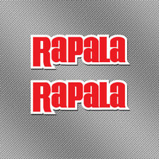 "2x Rapala 6"" Full Color Sticker Decal Fishing Boat Bait Lure Tackle Box Reel Rod"