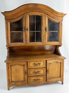 Antique European Continental Minaiture Walnut Salesman Sample Cupboard