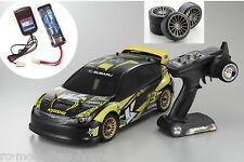 KYOSHO Bk 1-10 EP FAZER SUBARU IMPREZA ve + batteria + caricabatterie + RUOTE DRIFT 30914eu