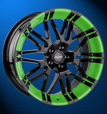 Oxigin 14 Oxrock 8.5x18 LK5x112 ET50 Schwarz mit grüner Folierung