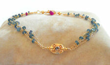 """alexandrite brown diamond bracelet solid 18k gold authentic real 7"""""""