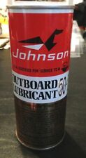 Johnson Outboard Lubricant 50-1 Two Cycle outboard motor 16 oz Vintage FULL CAN