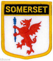 """Somerset (Shield) Embroidered Patch 6CM X 7CM (2 1/2"""" X 2 3/4"""")"""