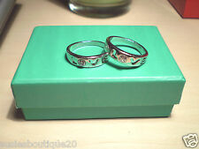 One Beautiful Stylish Diamante Love Ring Size S Ideal Gift Brand New.