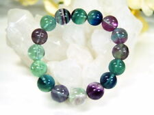Bracelet from Precious Stone Fluorite in Round d-12 mm