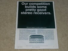 Marantz Model 18 Classic Receiver Ad, 1 Page, 1969, Article, Frame it!
