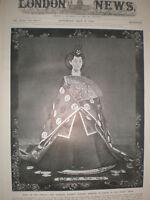 Printed Photo Empress Shoken (Haruko) consort Emperor Mutsuhito Japan 1910