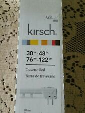 "Kirsch  30"" - 48"" Traverse Rod Draw Center, Left Or Right #1110 White"