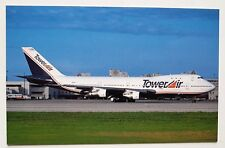 Tower Air Boeing 747-121 postcard