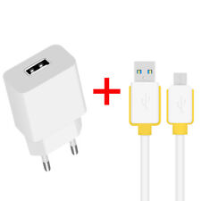 CE EU 2.1A Mains Car Charger Micro USB 3.0 Cable Lead For Samsung LG Moto Sony