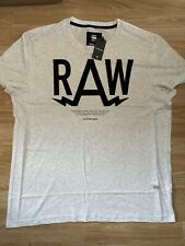 G Star New Mens Regular Fit Off White XXL T Shirt RRP £25