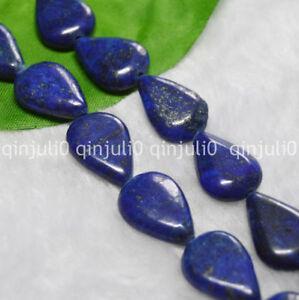 "13X18MM Natural Egyptian Blue Lapis Lazuli Teardrop Gemstone Loose Beads 15"""