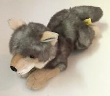 "Aurora Miyoni Plush Wolf Pup Stuffed Animal 13"" Toy"