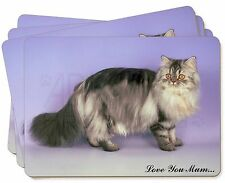 Persian Cat 'Love You Mum' Picture Placemats in Gift Box, AC-38lymP