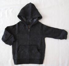 Jumping Beans Charcoal Gray Boys Fleece Full Zip Hoodie Size 12 24 months New