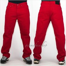 Mens Georgio Peviani jeans, g denim pants, straight fit urban hip hop star red