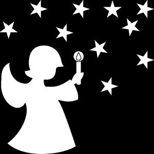 christmas star stars angel christ child Home Shop Window die cut decal stickers