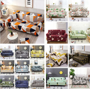 Sofa Covers 1-4 Seater Washable Stretch Fabric Sectional Couch Cover Slipcover