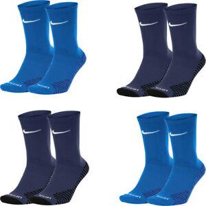 Nike Mens Squad Crew Socks Sports Running Casual Gym Socks Dri-Fit Blue Navy