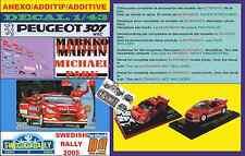 ANEXO DECAL 1/43 PEUGEOT 307 WRC MARKKO MARTIN SWEDISH RALLYE 2005 (06)