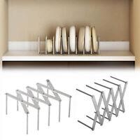 Kitchen Organizer Stainless Steel Pot Lid Dish Holder Rack Steamer Shelf Tray