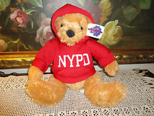 NYPD Teddy Bear w Hoodie Toy Warehouse NY Universal Plush NEW with TAGS 15 inch