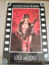 1990 Lock and Load Poster fantasy film frames C.J. Jim Delion