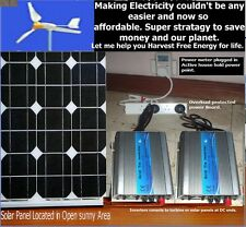 GRID TIE INVERTER PLUG AND PLAY SOLAR OR WIND or battery Bank to Grid power.