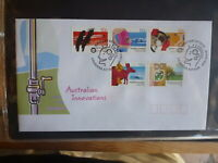 2004 AUSTRALIA AUSSIE INNOVATIONS SET 4 STAMPS FDC FIRST DAY COVER