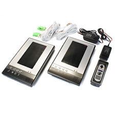 """7"""" Wired Video Door Phone 1 CCD Camera 2 Monitor Doorbell Home Intercom"""