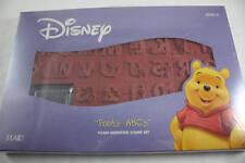 Disney Winnie The Pooh 26 ABC Alphabet Letters Set Rubber Stamps Foam Mount  NIB