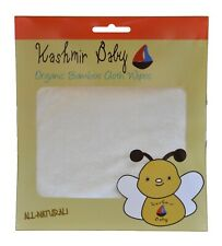 Kashmir Baby Cloth Diapering/ Diaper Wipes Organic Bamboo. Reusable. Washable.