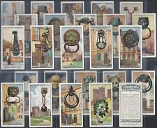 CHURCHMAN-FULL SET- INTERESTING DOOR KNOCKERS (25 CARDS) - EXC