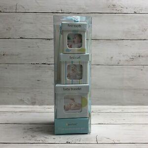 Pearhead Little Keepsake Set Baby Boy Blue Boxes Gift Set