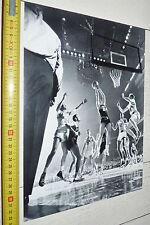 PHOTO BASKETBALL 1951 USA UNIVERSITY ST JOHN'S BRADLEY BASKET US