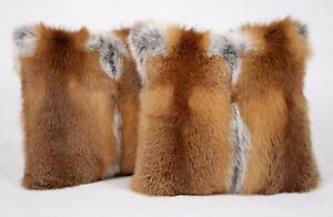 170 European red fox fur pillow fur cushion fur bolster genuine fur real fox