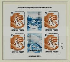 HUNGARY SC 2239a NH imperf issue of 1973 - EUROPIAN SECURITY MINISHEET. Sc$125
