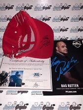 BAS RUTTEN MMA UFC AUTOGRAPHED OFFICIAL HAT CAP & 8X10 PHOTOGRAPH LOT-PROOF COA
