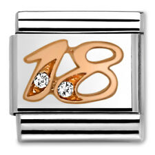 Genuine Nomination CLASSIC Rose Gold Number 18 Charm 430315/18 RRP £29.00