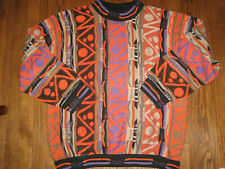 Mens sweater top long sleeve cotton Coogi Large pullover multi-colored Australia