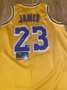Los Angeles Lakers Lebron James Autographed Jersey Signed W/COA