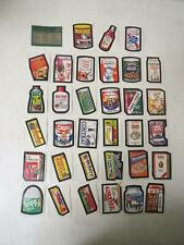 Vintage 1974 TOPPS WACKY PACKAGES 7th SERIES complete set TAN BACK 33/33