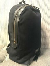 Authentic NEW Paul Smith Mens Black Canvas Leather Backpack Large